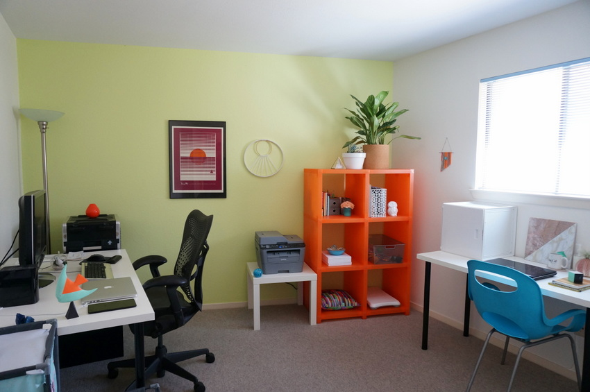 IKEA desks in a home office