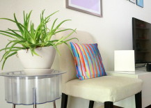 IKEA plant stand and chair