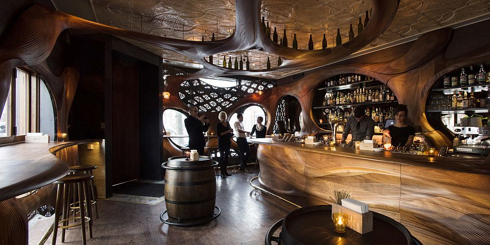 View In Gallery Ingenious Design Of Bar Raval Inspired By The Curious  Culinary World