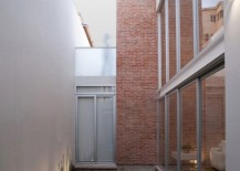 Inner Courtyard Area Enclosed within Glass Walls