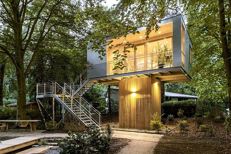 Urban Treehouse: A Relaxing Hub of Stylish Sustainability!