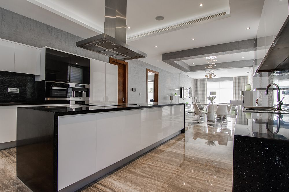 Kitchen and dining area combine to create the perfect social zone