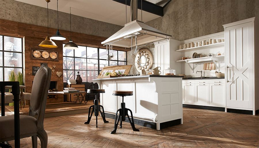 Exclusive Italian Kitchen With Modern Comfort And Vintage Elegance