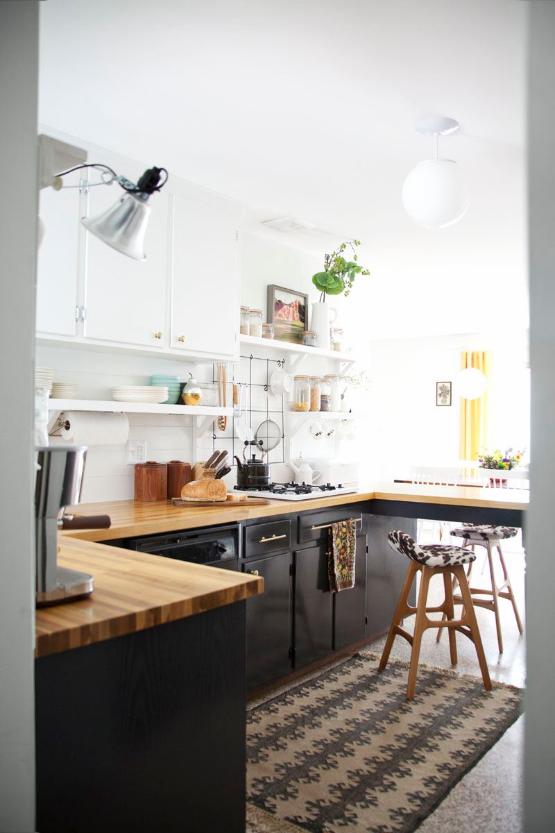 Kitchen renovation of A Beautiful Mess blogger Mandi Johnson