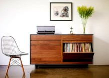 LP Storage Cabinet 217x155 Spin That Vinyl: Modern Record Player Setups