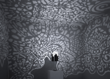 Lacelamp Casting Patterned Shadows on Walls