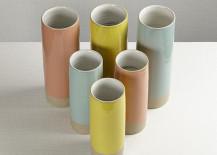 Large Les Guimards cylinder vases
