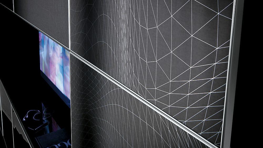 Living room shelves offer a striking visual effect