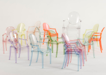 Louis Ghost Chairs Rainbow of Colors