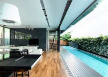 Lovely Lap Pool Right Next to Living Area