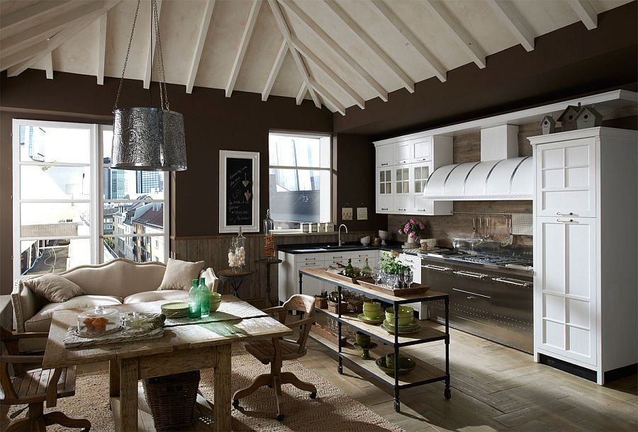 Lovely kitchen design tha grows along with the needs and changing lifetsyle of its owners