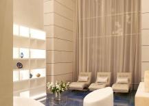 Luxurios interior of the Dubai Villa in blue and gold