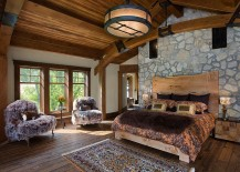 Luxurious rustic bedroom with an air of tranquility
