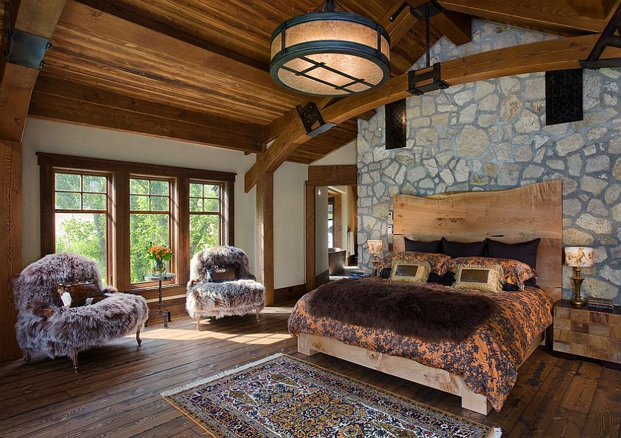 Luxurious rustic bedroom with an air of tranquility [Design: Mitchell Brock]