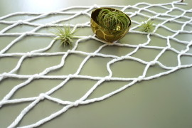 An Easy Macrame DIY Table Runner