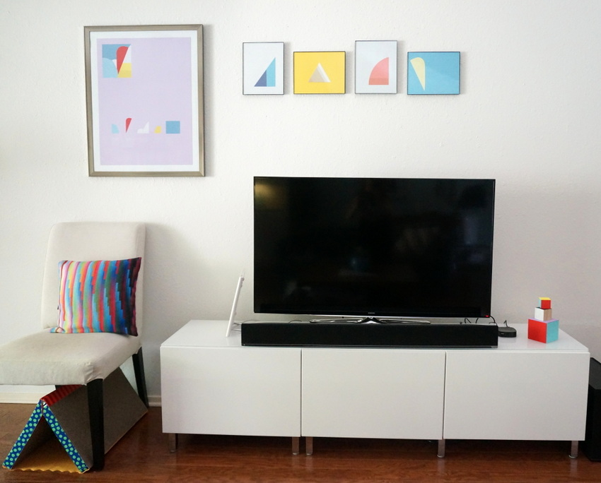 Media console from IKEA