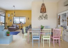 Mediterranean dining room with snazzy chairs in pastel hues 217x155 Hot Interior Design Trends to Watch Out for in Summer 2015