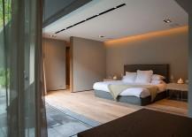 Minimal bedroom design with smart lighting