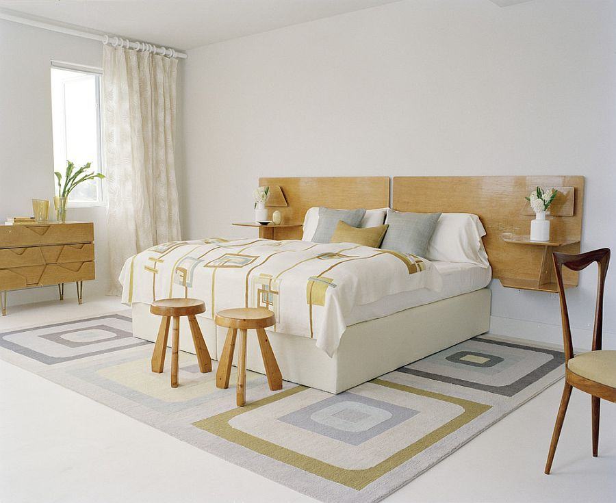 Minimal bedroom design with subtle oriental touches [Design: Amy Lau Design]