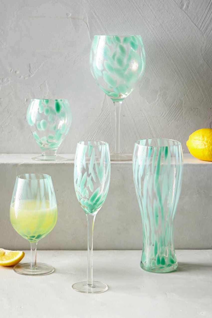 Minty glassware from Anthropologie
