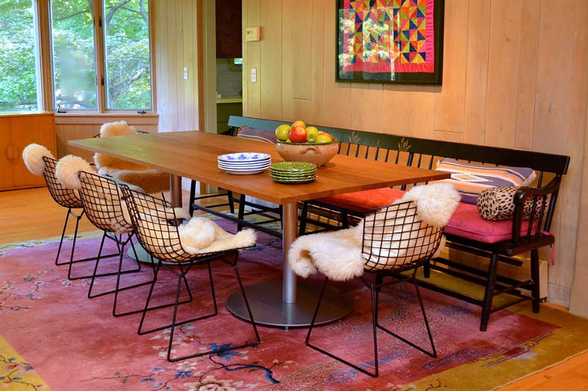 18 eclectic dining rooms with boho style for Bohemian dining room decorating ideas