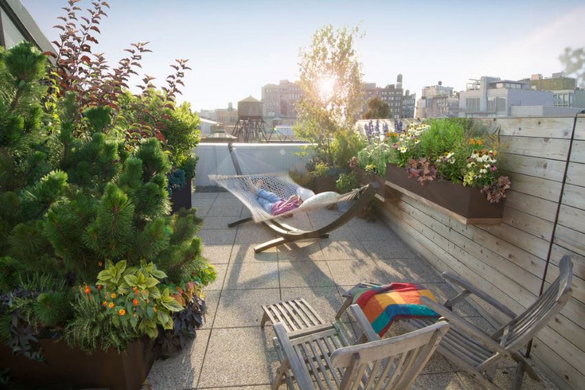 Modern balcony by Todd Haiman Landscape Design
