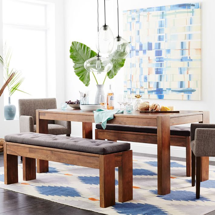 Modern dining room with Boho accents