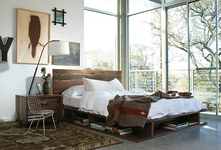 Modern industrial style bedroom with an uncluttered look [From: Marco Polo Imports]
