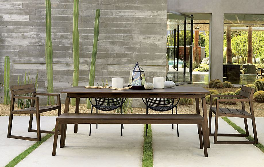 View In Gallery Modern Outdoor Dining Space With Cactus