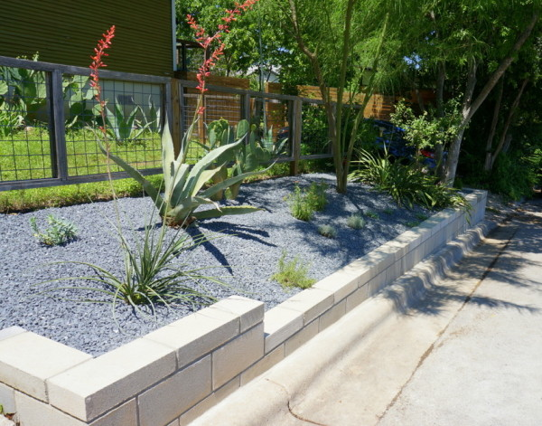 Modern retaining wall project