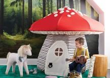 Mushroom playhouse from The Land of Nod
