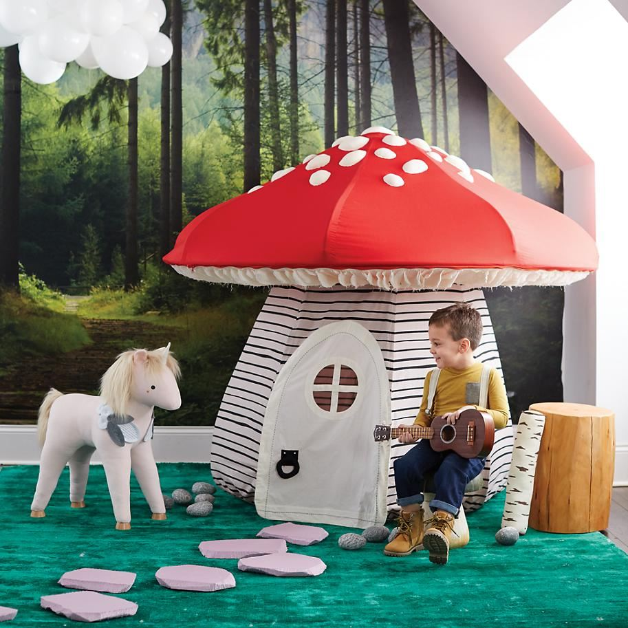 Mushroom playhouse from The Land of Nod