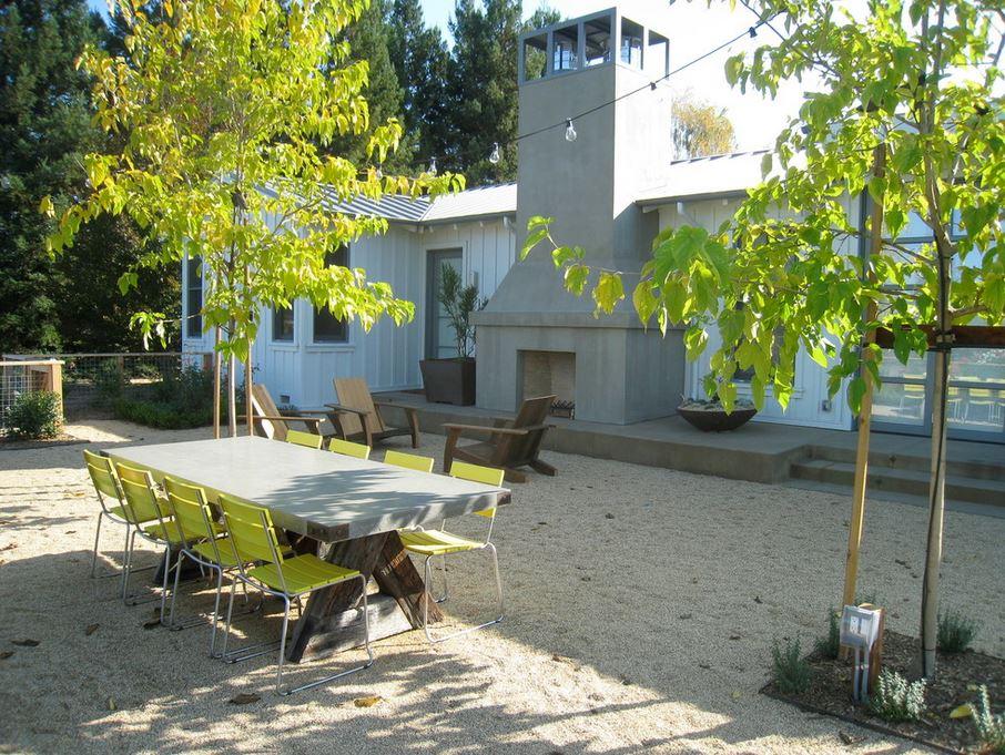 Napa Valley outdoor dining area
