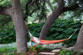 Natural greenery offers ample privacy in this Austin backyard  Summer Spirit: 25 Cool Outdoor Hangouts with a Hammock! Natural greenery offers ample privacy in this Austin backyard 270x180