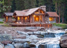 Natural pond around the cabin retreat with a magical water feature 217x155 Headwaters Camp Cabin: Idyllic Retreat Enchants with Scenic Splendor