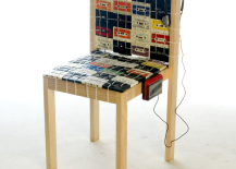 Nostalgic Chair Made Out of Old Tapes