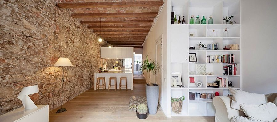 Old apartment in Barcelona gets a contemporary update in white Nineteenth Century Barcelona Apartment Gets a Trendy Modern Upgrade