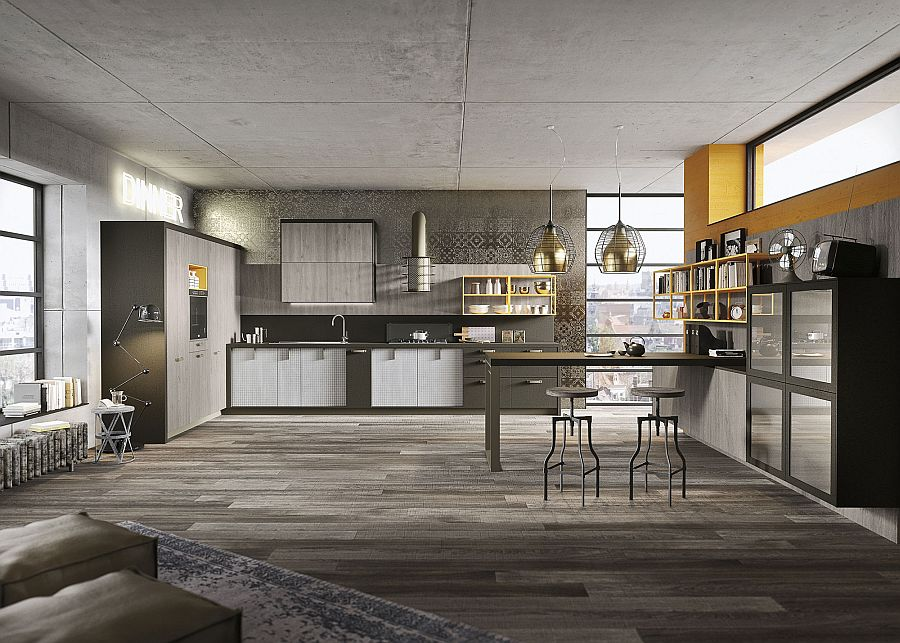 Open Shelves And Closed Pantry Units Define The Elegant Loft Kitchen Refined Brings