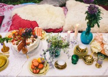 Opulent Boho chic table setting