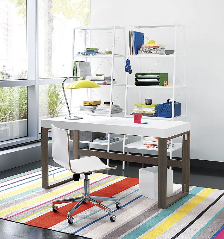 Organized office from CB2 10 Ways to Make Your Roommate More Organized for a Clutter Free Environment