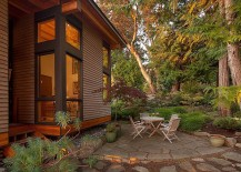 Outdoor sitting zone at the Saturna Island Retreat