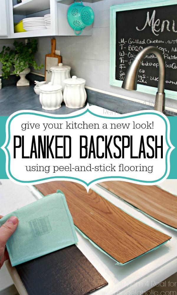 Peel and Stick Flooring Backplash