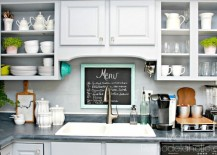 Peel and Stick Vinyl DIY Backsplash
