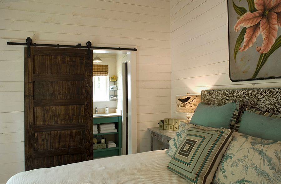 Perfect door style for the cool rustic bedroom [Design: Our Town Plans]