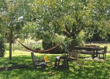 Perfect outdoor escape with dining area and a cool hammock hangout