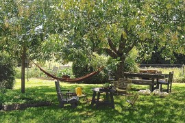 Perfect outdoor escape with dining area and a cool hammock hangout  Summer Spirit: 25 Cool Outdoor Hangouts with a Hammock! Perfect outdoor escape with dining area and a cool hammock hangout 270x180