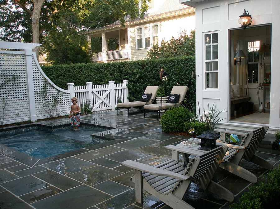 ... Perfect petite pool for the small backyard [Design: Kirk Wood Homes]