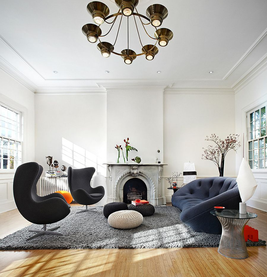 Ploum Sofa by Ligne Roset matches the charm of the Egg Chairs [From: Lisa Petrole Photography]