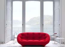 Ploum Sofa in brilliant red promises to bring alive your living room