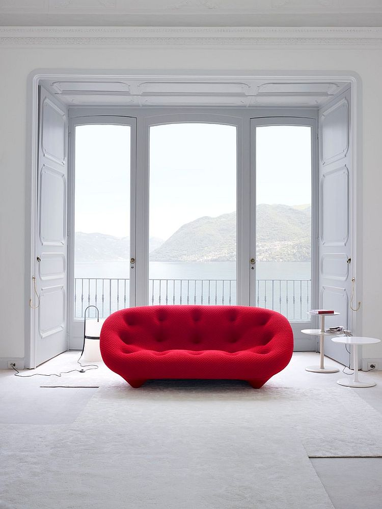 Ploum Sofa in brilliant red promises to bring alive your living room [From: Ligne Roset Chicago]
